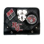 - Harley Quinn Locket Deluxe Bi Fold Wallet Women Black Purse Dft6724