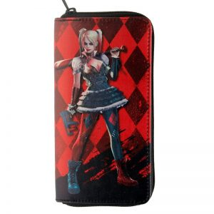 - Harley Quinn Wallet Pu Fashion Women Wallets Designer Purse Lady Party Wallet Female Card Holder