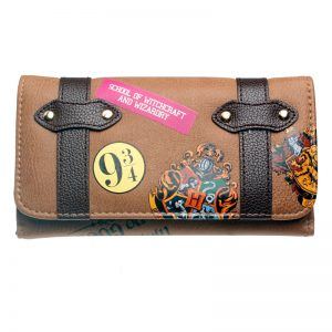 - Hogwarts Castle Crest Envelope Satchel Fold Wallet Purse Dft 8307