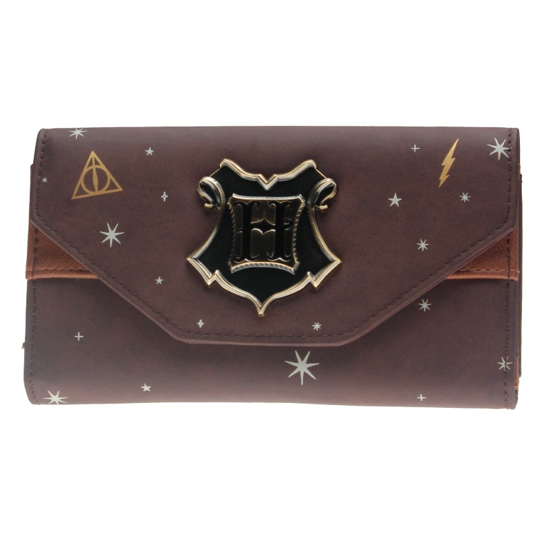 Hogwarts-Crest-Faux-Leather-Tri-Fold-Wallet-Dft-8305