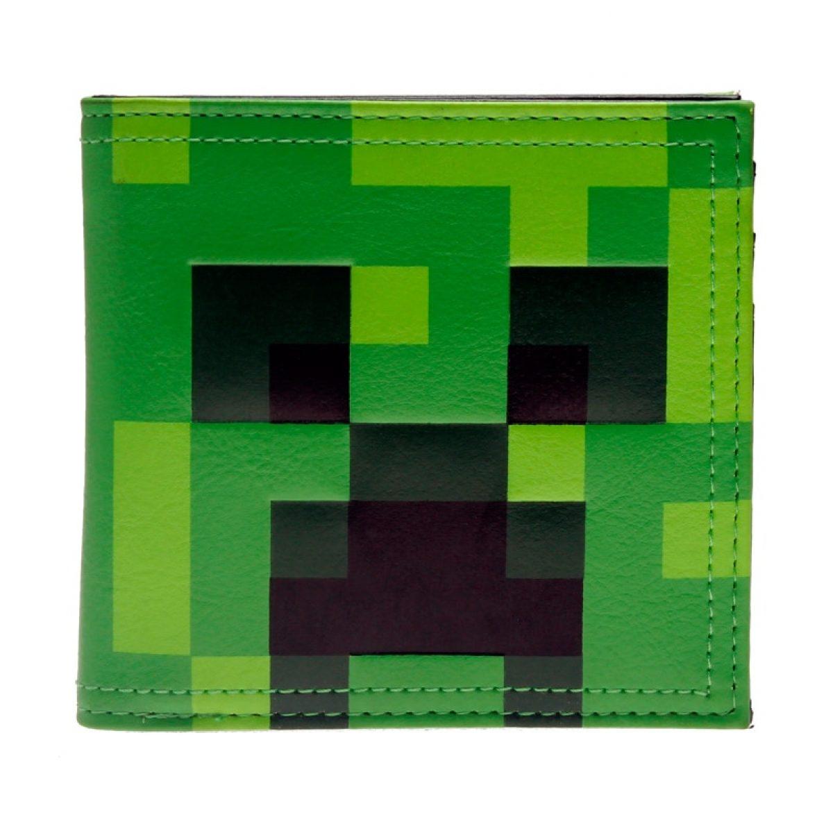 Wallet Minecraft Creeper Face Green Monster Idolstore