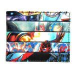 Men women Heroes vs Villains Bi Fold Wallet DFT 1396