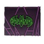 - Purple Embroidered Hahaha Joker Bifold Men Wallet Women Purse Dft 3063