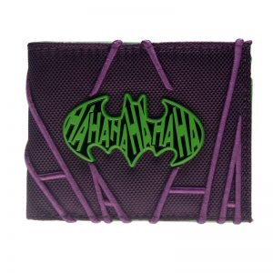 - Purple Embroidered Hahaha Joker Bifold Men Wallet Women Purse Dft 3063