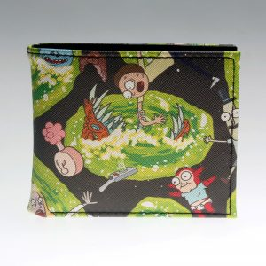 - Rick And Morty Bifold Wallet Coins Purse Dft 2738