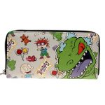 - Rugrats Letter Zip Around Wallet Pu Long Fashion Women Wallets Designer Brand Purse Lady Party Wallet