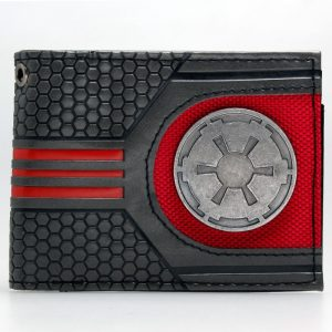 Star Wars Rebel Emblem Logo Mix Material Bi fold Wallet Women Purse DFT 1921