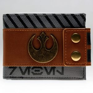 Star Wars Rogue One Rebel Snap Bi Fold Men Wallet with Metal Logo Badge Women Purse 10