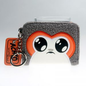 - Star Wars Episode 8 Porg Girl Mini Bi Fold Wallet Women Black Purse Dft6712