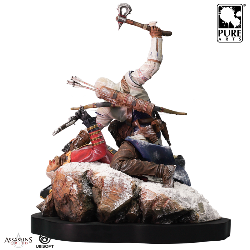 XHGM Anime Statue Assassins Creed 3 Connor Archery King Anime Model Decoration Cartoon Sculpture
