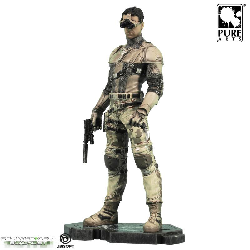 Collectibles Tom Clancy'S Splinter Cell Sam Fisher Statue Desert Suit