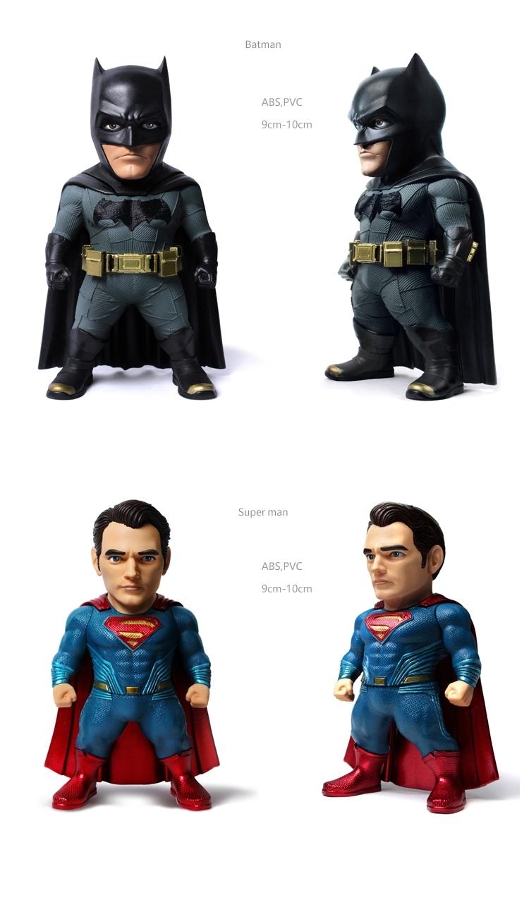 Merch Batman + Armored Batman + Superman Figurines Set Kids Logic