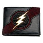 The-Flash-Black-Date-Red-Rubber-Badge-Bifold-Men-Wallet-Women-Purse-Dft-3059