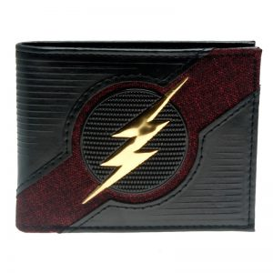 - The Flash Black Date Red Rubber Badge Bifold Men Wallet Women Purse Dft 3059