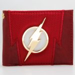 - The Flash Red Embroidered Metal Badge Bifold Men Wallet Women Purse Dft 1875
