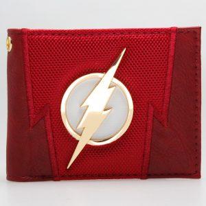 - The Flash Red Embroidered Metal Badge Bifold Men Wallet Women Purse Dft 1875