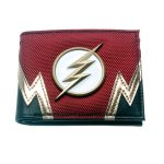 The-Flash-Red-Embroidered-Metal-Badge-Bifold-Men-Wallet-Women-Purse-Dft-3155