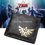 - The Legend Of Zelda All Over Emboss With Gold Foil Bi Fold Wallet Women Purse Dft