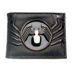 Venom-Bifold-Wallet-Black-Metal-Badge-Purse-Dft-3124