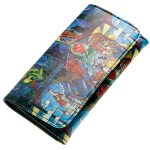 Wallet-Female-Pu-Leather-Wallet-Leisure-Purse-Colorful-Style-3Fold-Flowers-Printing-Women-Wallets-Long-Coin