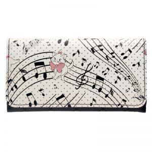 Merchandise Purse Musical Notes Pattern Print Long Wallet