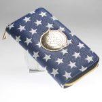 - Wonder Woman Zip Around Wallet Blue Women Purse Dft 5020