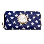 Wonder-Woman-Zip-Around-Wallet-Blue-Women-Purse-Dft-5020