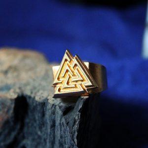 Merchandise Ring Scandinavian Mythology Walhall Valknut