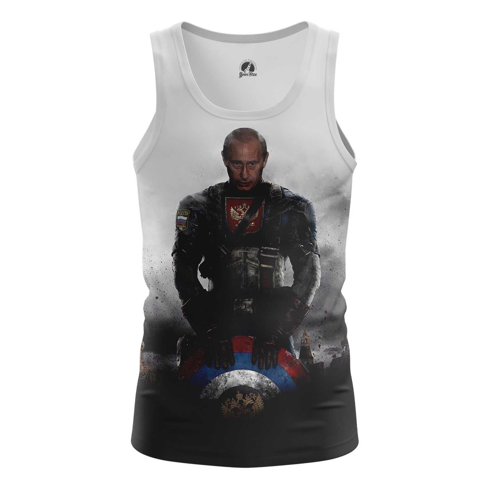 Merch Men'S T-Shirt Vladimir Putin President Captain Russia Marvel