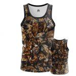Collectibles - Men'S Tank Foxes Animals Fox Pattern Vest