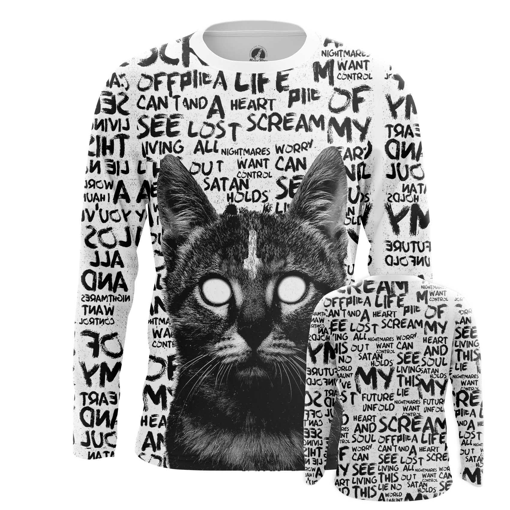 Merch Men'S T-Shirt Bat Kitten Internet Funny Cat