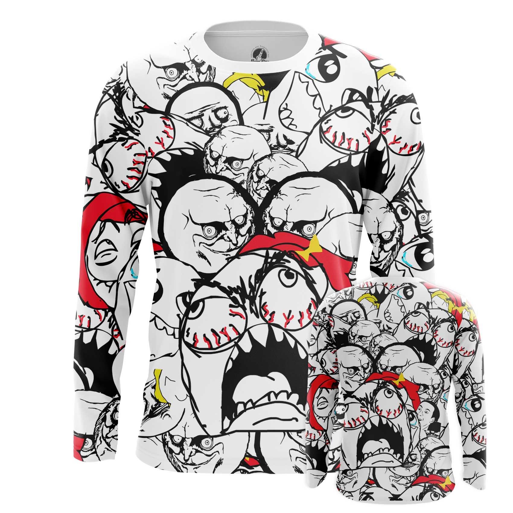 Merch Men'S T-Shirt Memes Internet Web Art Fun Faces