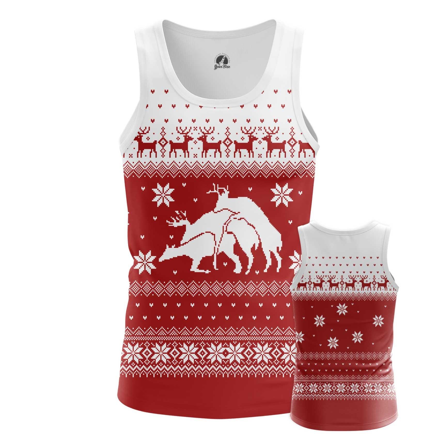Merchandise Long Sleeve Deers Christmas Sweater Santa Fun Art