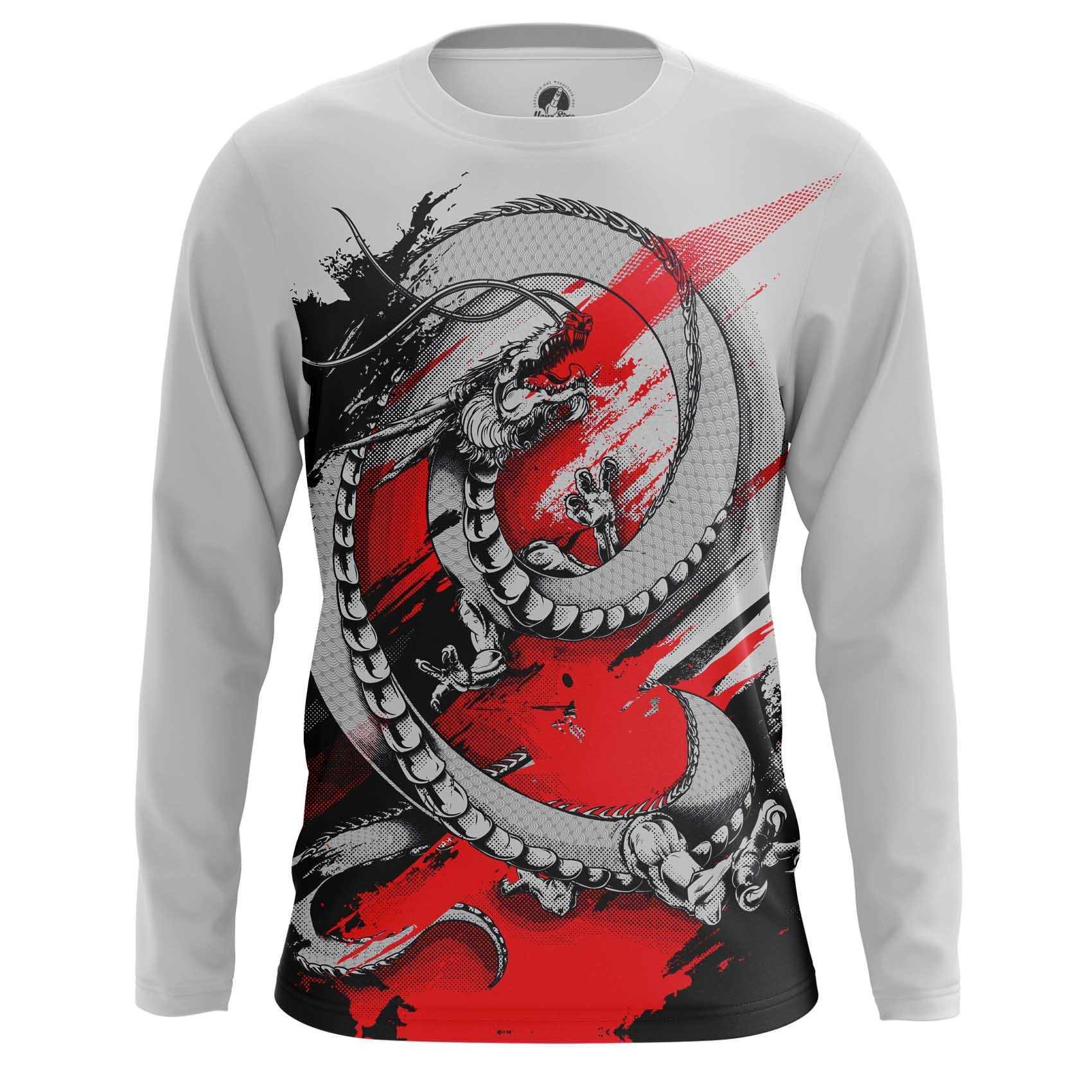 Merch Long Sleeve Chinese Dragon Monster Giant Reptile
