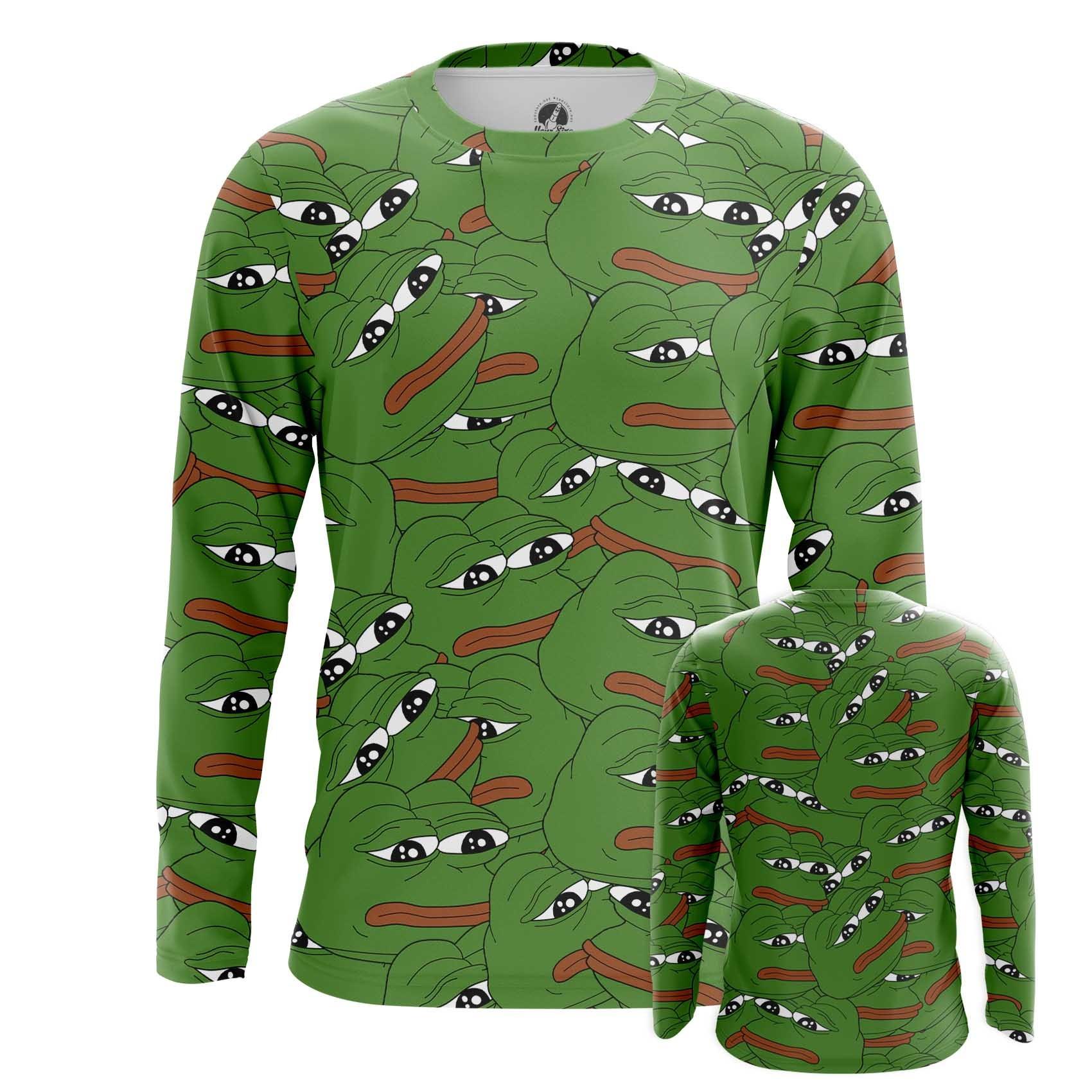 Merchandise Men'S Long Sleeve Pepe Frog Meme