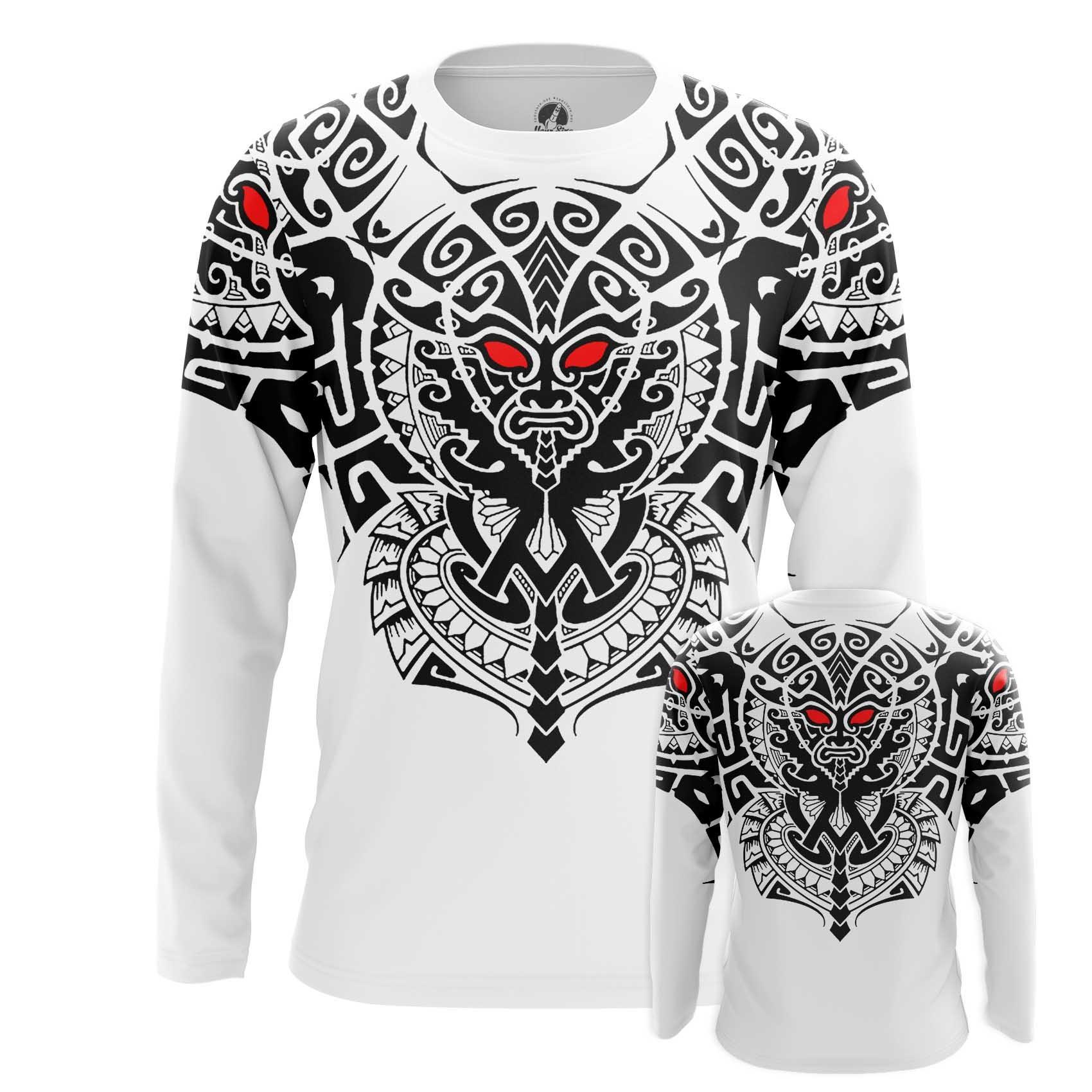 Merchandise Men'S Long Sleeve Maori Tattoos Print Clothes Pattern