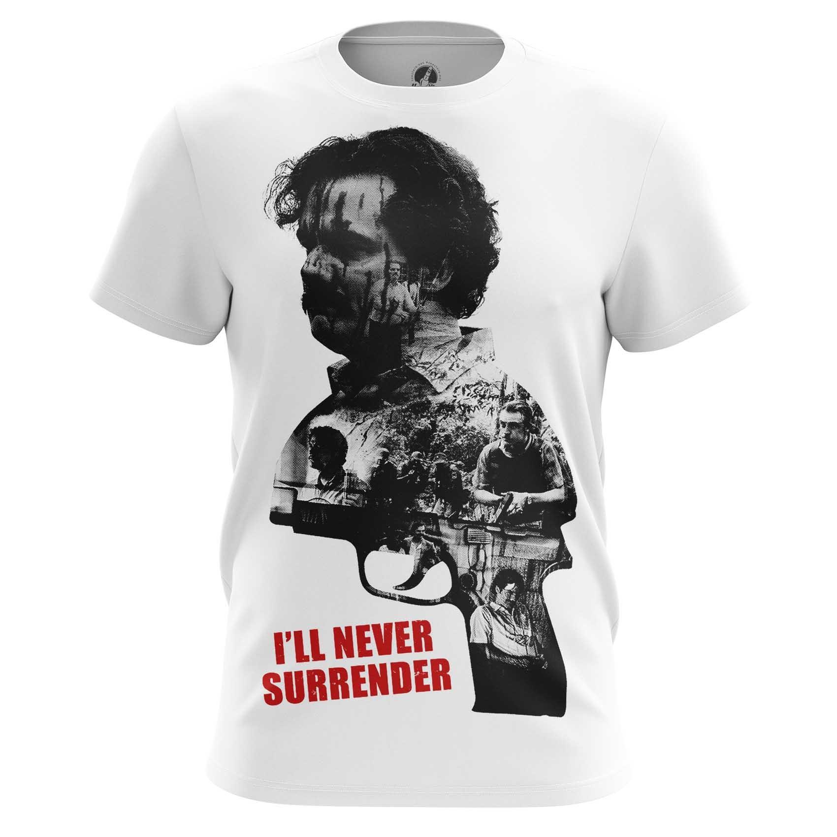 Merch Men'S T-Shirt Pablo Escobar I'Ll Never Surrender Quote