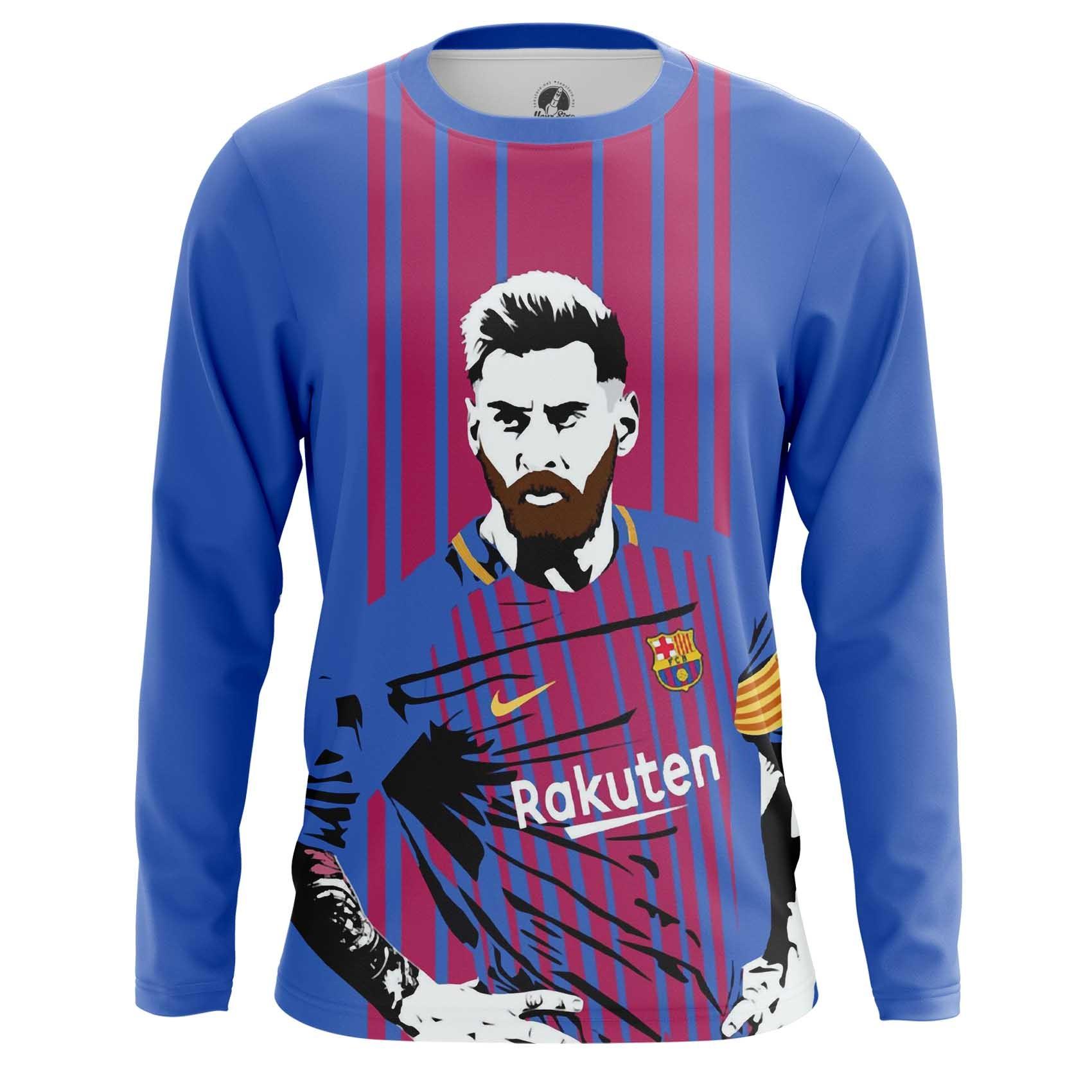 Collectibles Men'S Long Sleeve Messi Barcelona Art Illustration