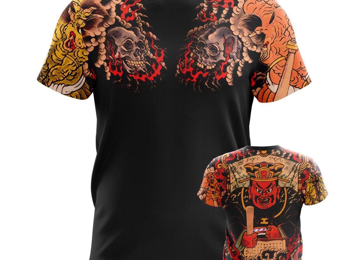 Men S T Shirt Yakuza Black Tattoo Sleeves Idolstore