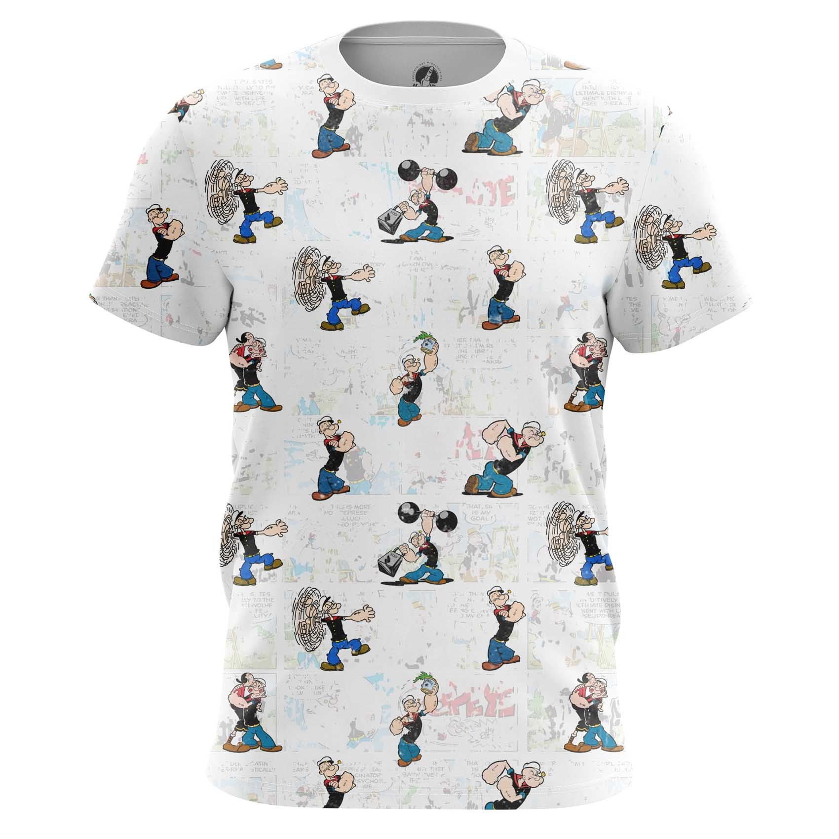 Merch Long Sleeve Popeye Sailor Art Pattern