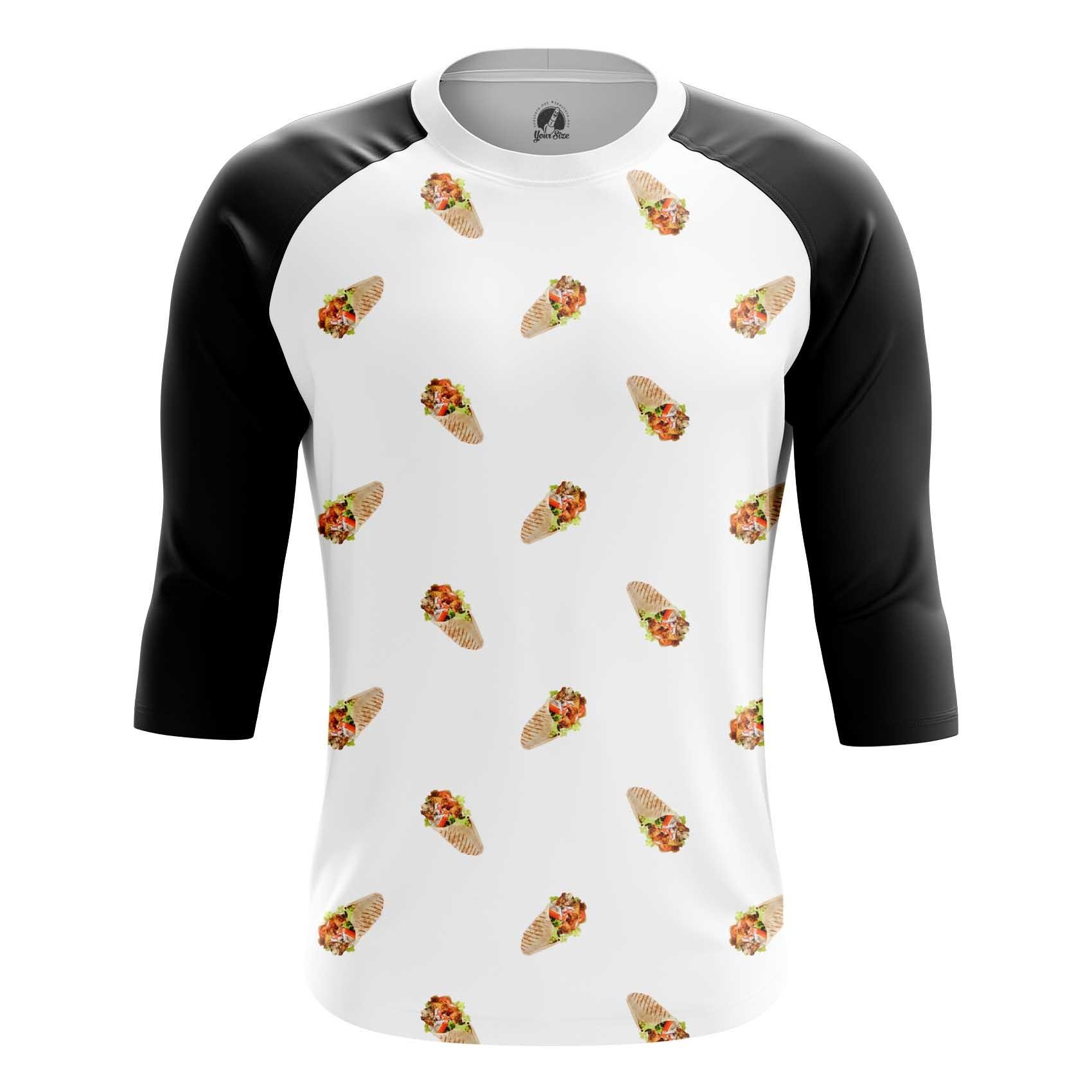 Merchandise Long Sleeve Shawarma Pattern Food Art Apperel