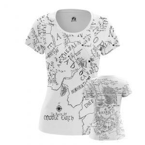 Merchandise Women'S T-Shirt Middle Earth Lord Of Rings Map