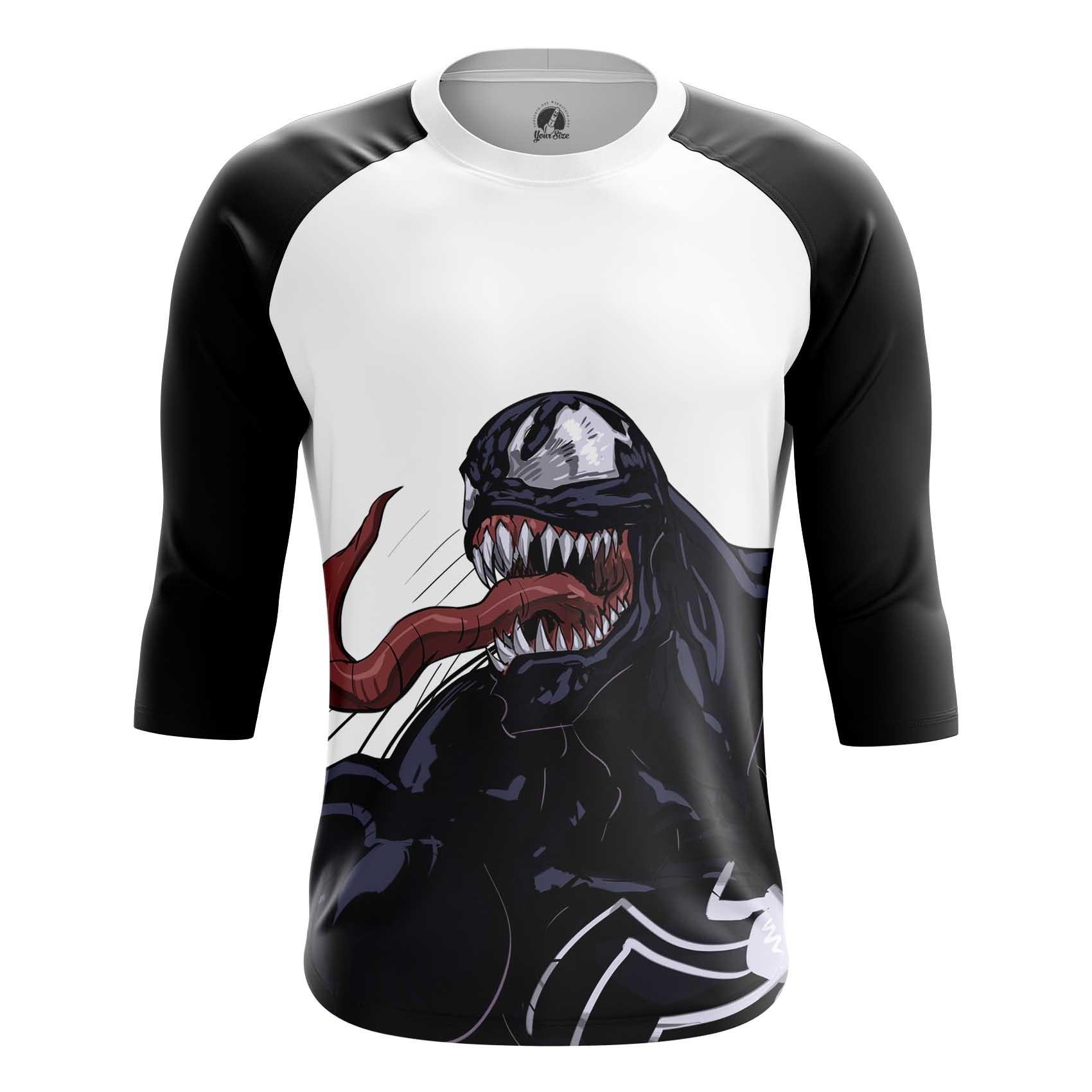 Collectibles Men'S Long Sleeve Venom Symbiote Tom Hardy Art