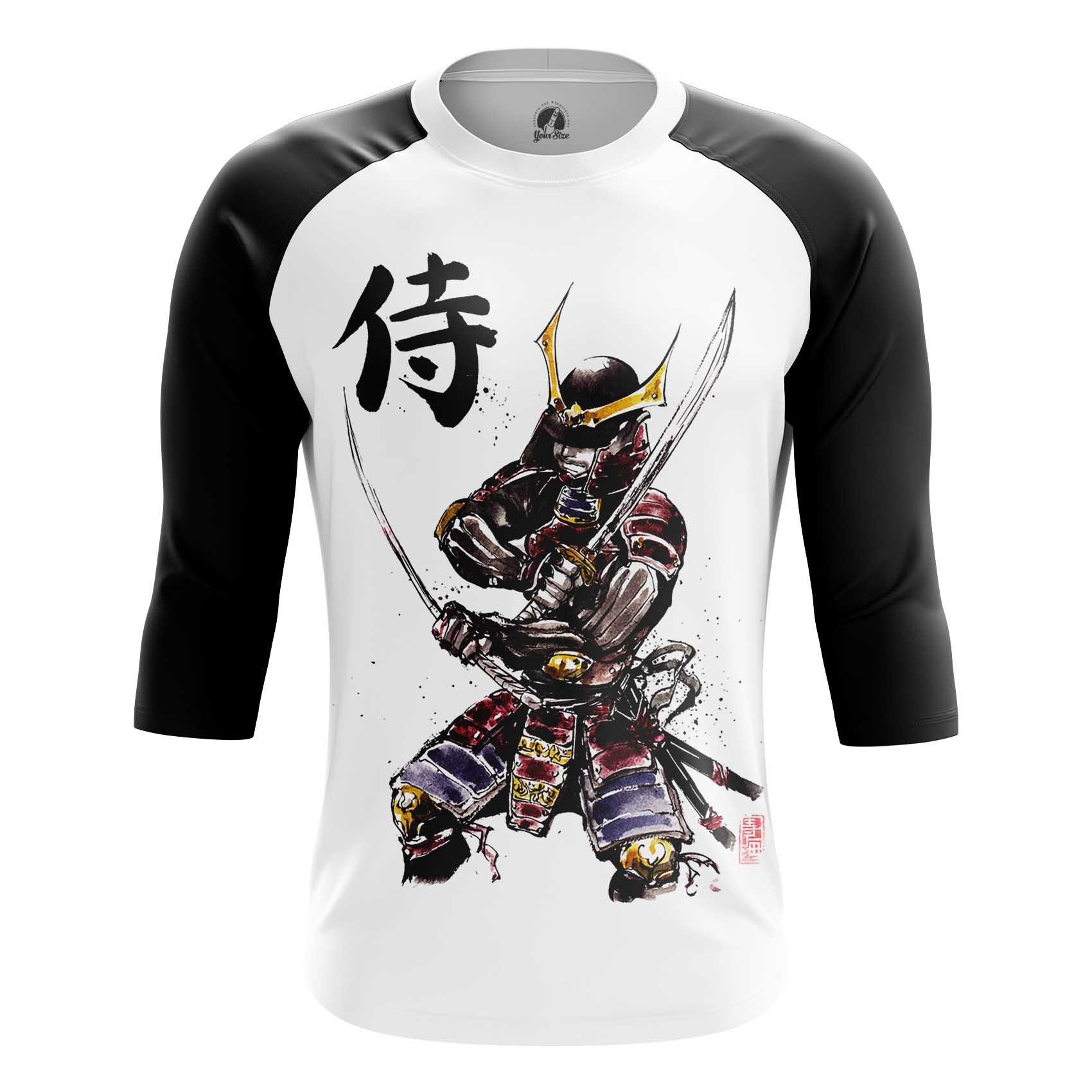 Merchandise Men'S Long Sleeve Samurai Illustration Folk Japan Art