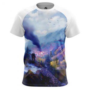 Merch Men'S T-Shirt Witcher World Wolf Sign World