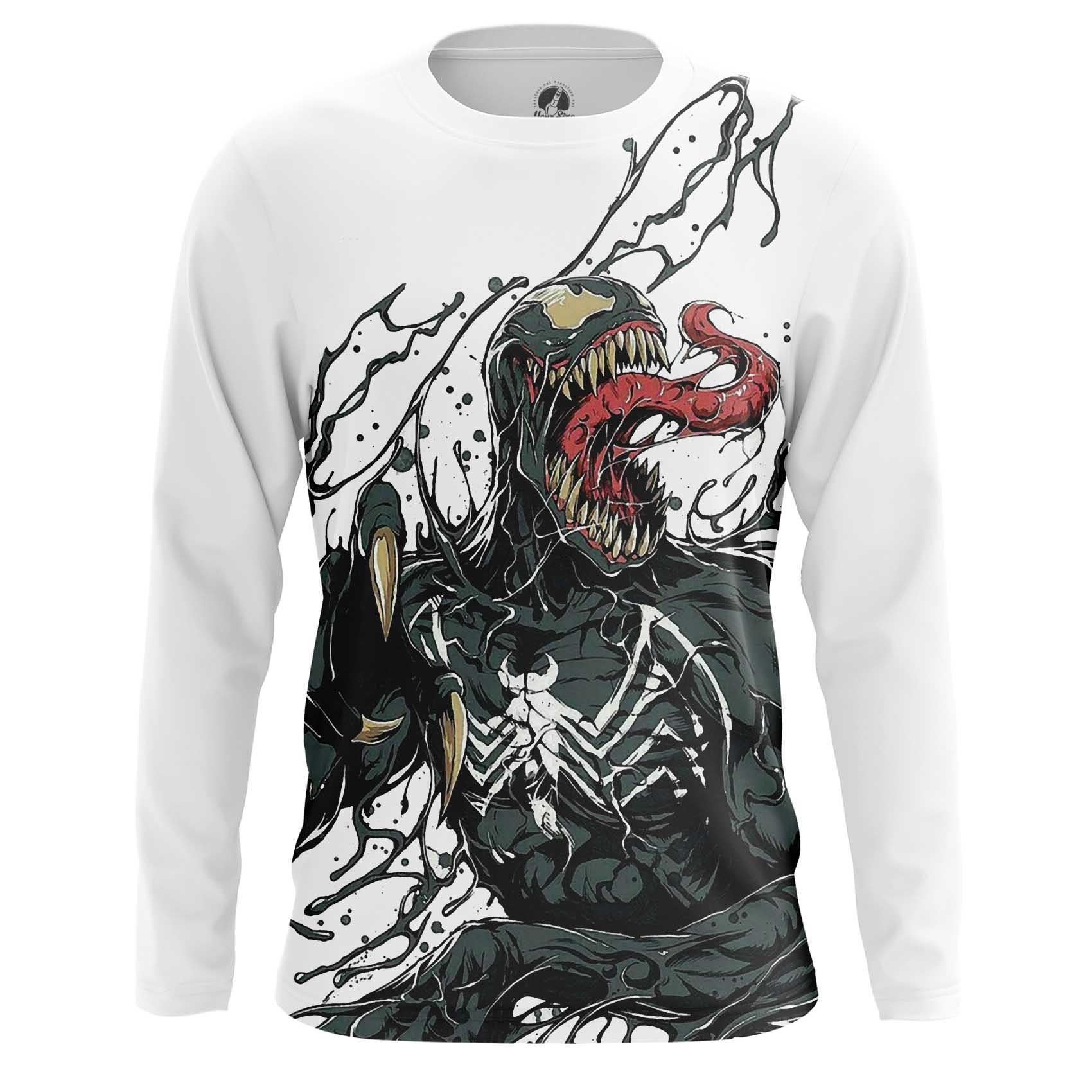 Collectibles Men'S Long Sleeve Venom Symbiote Web Art