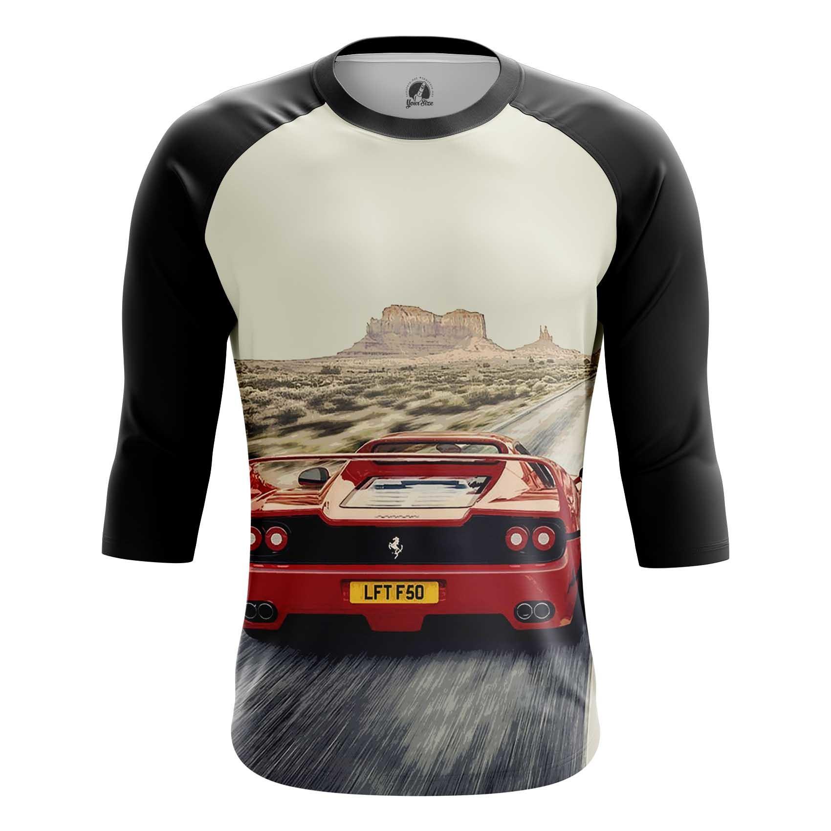 Merch Men'S T-Shirt Ferrari Car Logo Emblem Valley Of Monuments