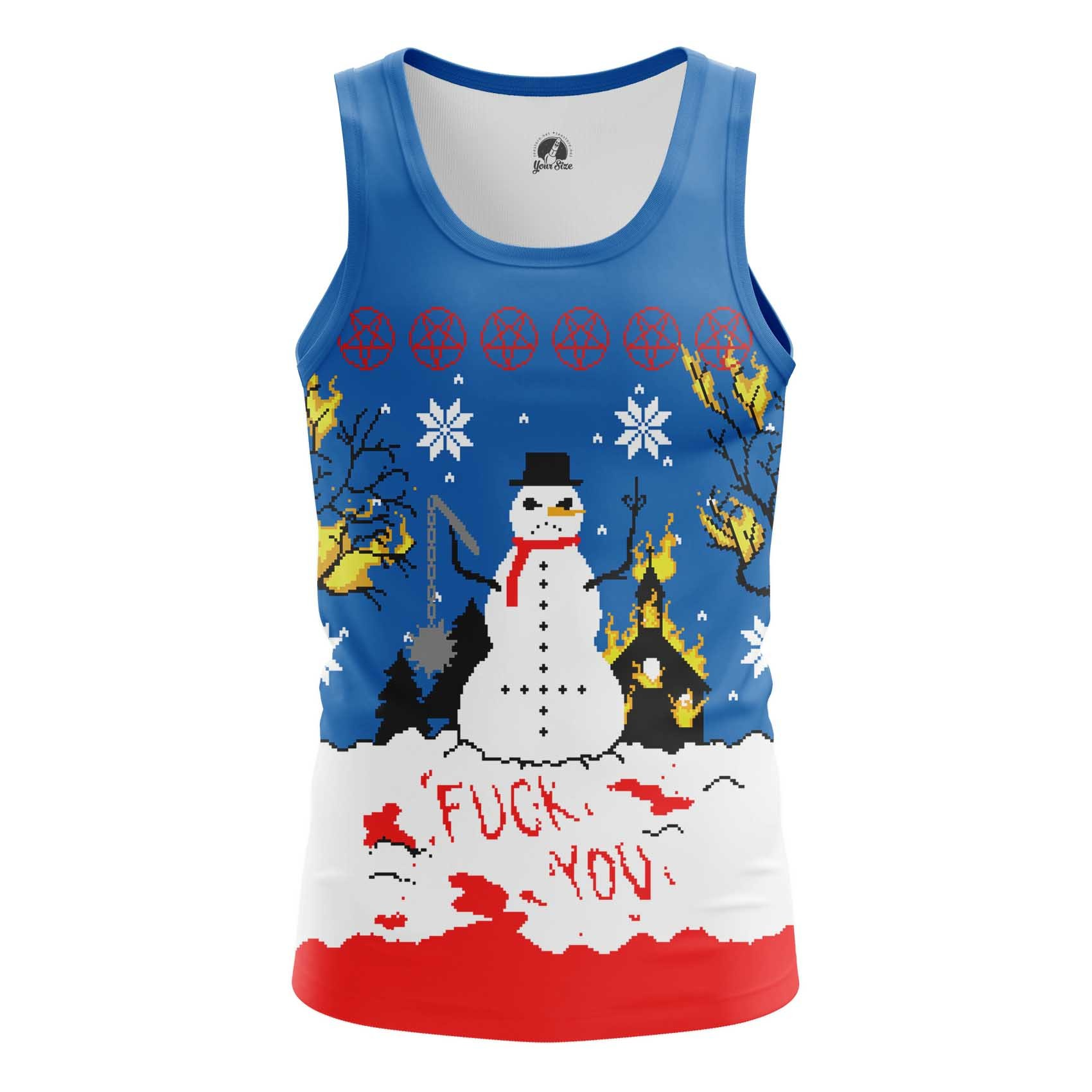 Merchandise Men'S T-Shirt Christmas Of White Snowman Satan Killer