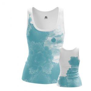 Merch Women'S Tank Blue Sky Clouds Vest