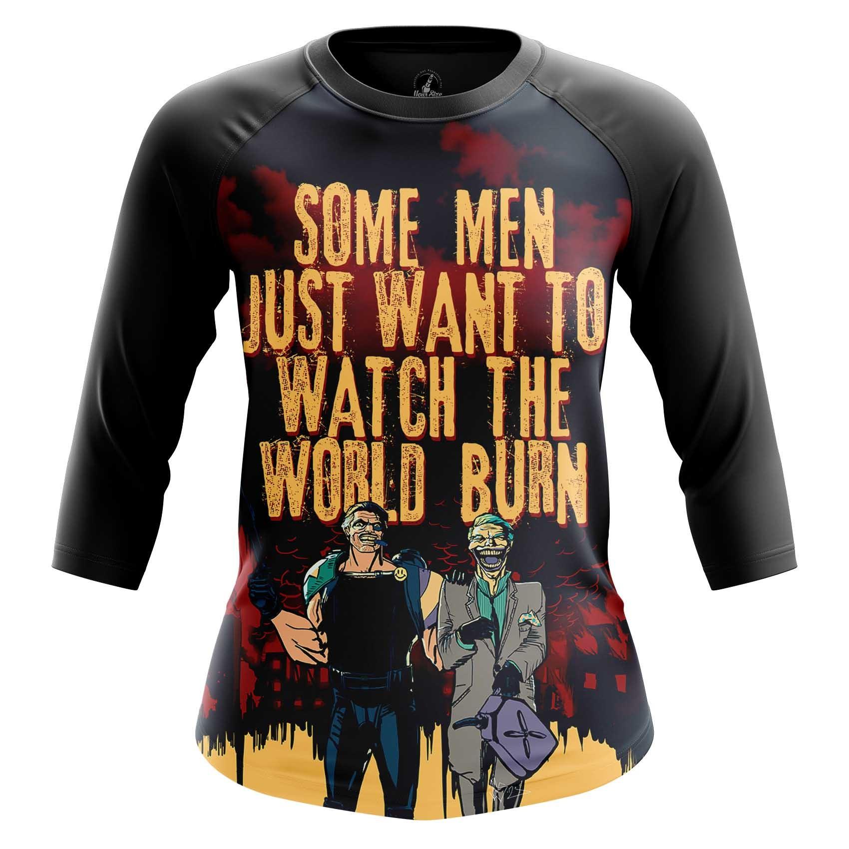 Merch Men'S Long Sleeve Watch World Burn Edward Blake Watchmen Joker